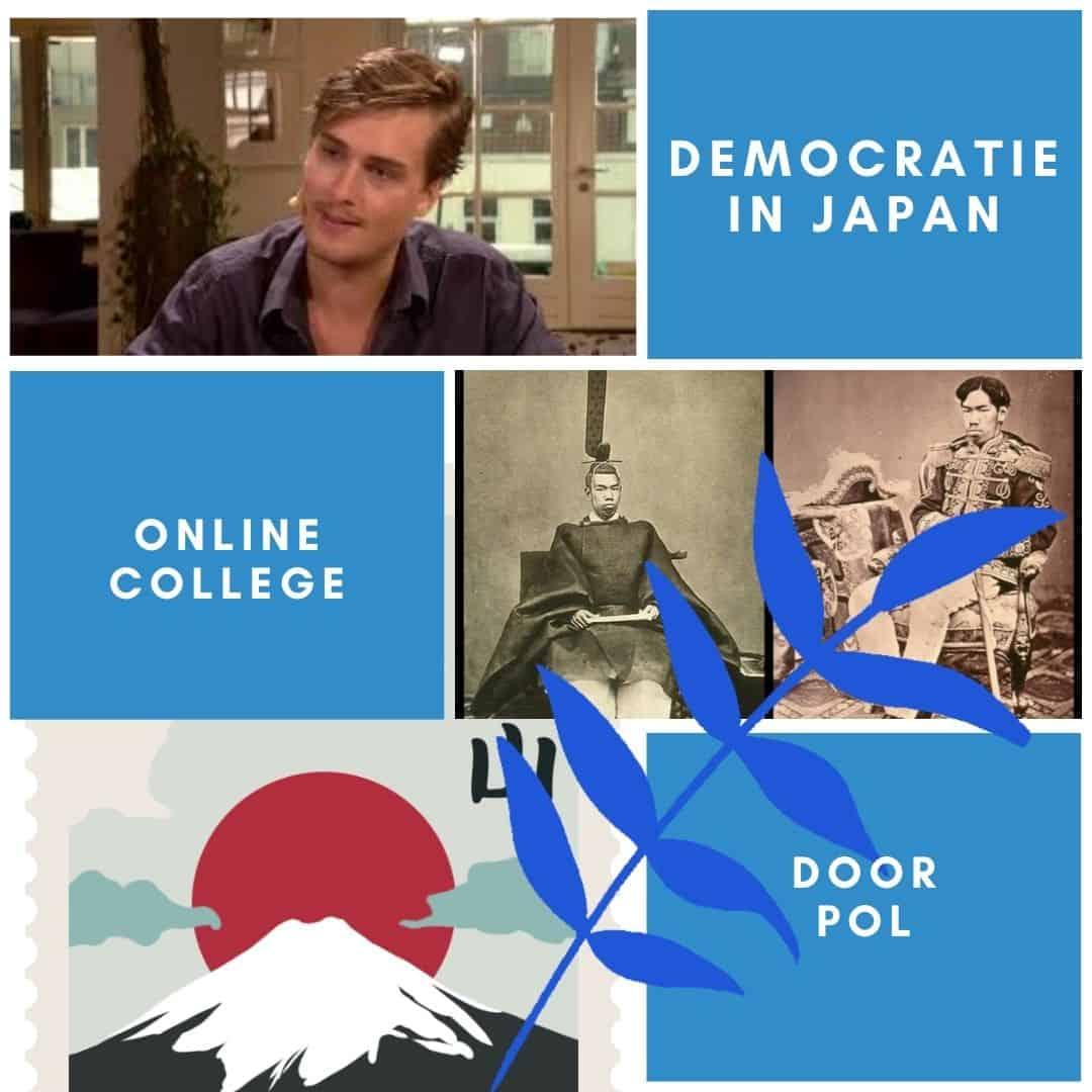 Voorbeeld online college voor senioren, studentcoach Pol over democratie in Japan