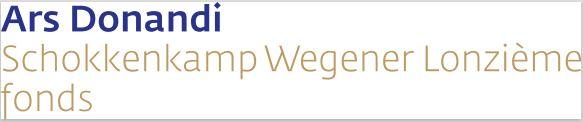 Logo Ars Donandi, Schokkenkamp, Wegener-Lonzième Fonds